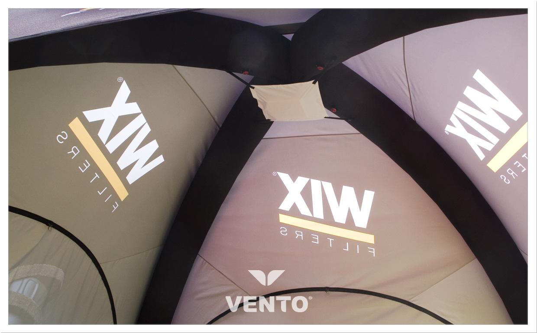 Gazoszczelny namiot reklamowy z oświetleniem LED